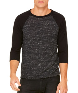Unisex Bella+Canvas ¾-Sleeve Baseball Tee Shirt