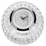 Custom Golf Ball Desk Clock W/ Silver Dial