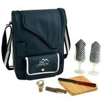 Custom Deluxe Wine & Cheese Picnic Set with Glass Wine Glasses