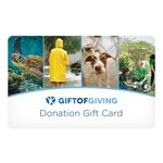 Custom Gift of Giving Gold Level Donation Gift Card