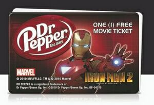 Movie Ticket Card- 1 Movie Ticket