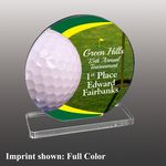 Custom Golf Themed Full Color Acrylic Awards - Medium