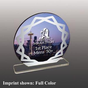 Custom Large Circle Shaped Full Color Acrylic Award