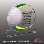 Large Golf Themed Ultra Vivid Acrylic Award