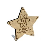 Laser Etched Bamboo Desk Plaques With Posts