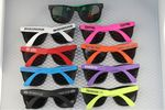 Rubber Frame Neon Sunglasses w/ UV Lens