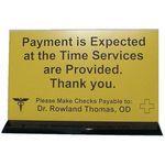 Custom Counter Sign w/Base Holder (6