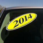 Custom E-Z Oval Year Model Signs