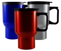 16 Oz. Non Skid Base Travel Mug w/Handle