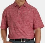 FootJoy® ProDry® Performance Lisle Space Dyed Self Collar Shirt (Crimson Red)