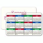 Custom 30 mil Plastic Credit Card Size Calendar