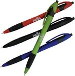 Custom Color Barrel European Design Ballpoint Pen w/ Rubber Grip