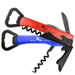 Multi-Purpose Bottle Opener w/ Corkscrew