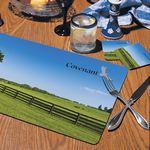 Custom Heritage 2 Pk. Hardboard Table Mats w/Four Color Printing