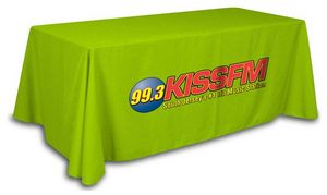 6 Tablecloth -Any Color cloth with full color logo 80 x 130