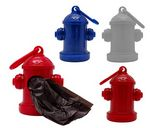 Custom Fire Hydrant Shaped Dispenser with 15 Pet Waste Bags included