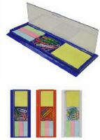 Ruler with Top Compartment for 10 Paper Clips, Sticky Notes & Tabs