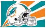 Officially Licensed NFL- Miami Dolphins Team Flag