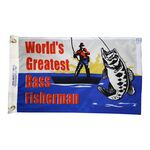 World's Greatest Bass Fisherman Flag- (12