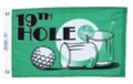 "Nyl-Glo® Fun Flag- (12""x18"") 19th Hole"