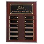 Custom Regency Perp Plaq - Rosewood 12 Plate