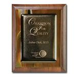 Custom Metallic Fusion Plaque - Brown/Walnut 9