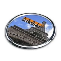 "Cosburn Coaster - 4"" Chrome (Sublim Color)"