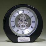 Custom Silver Accent Clock - Black 8
