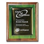 Custom Metallic Fusion Plaque - Green/Walnut 9