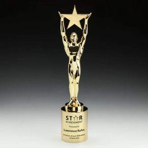 Star Achievement on Cylinder - Gold 15½