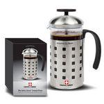 Custom Swiss Force Coffee Press - 20oz Stainless Steel