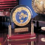 Custom International Clock with Rosewood Piano Finish & Brass Accents