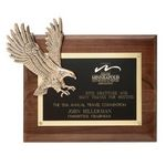 Custom Soaring Eagle Plaque - Walnut/Bronze 10½