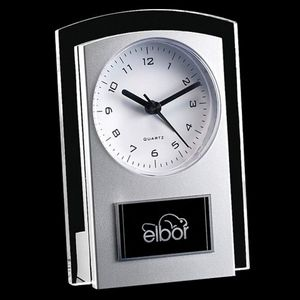 Mallory Clock - Silver/Clear 5½