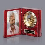Custom Sanibel Clock - Rosewood/Gold 6½