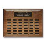 Custom Walnut Pert Plaque - 36 Plates