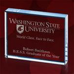 Custom Rectangle Paperweight Award/ Starfire - 3