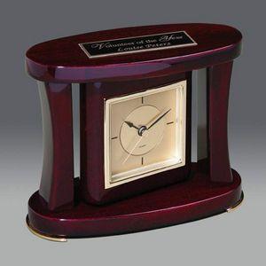 Swivel Clock - Rosewood Piano Finish 6¼ W