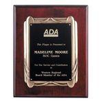 Custom Rosewood Plaque w/Antique Bronze Frame 10½