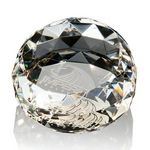 Custom Gem Cut Paperweight - Optical Crystal 3