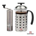 Custom Swiss Force Coffee Grinder/Press Set