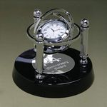 Custom Gyroscope Clock - Black/Chrome 6