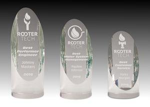 Cylinder Optic Crystal Award (2¼x8)