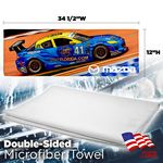 Double Sided Automotive Microfiber Cleaning Towel - Sublimation