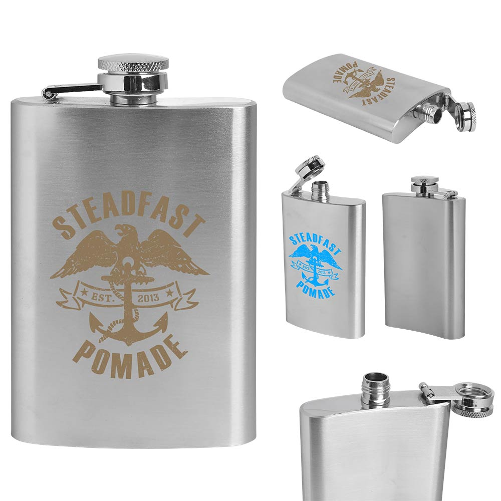 4 Oz. Stainless Steel Flask (Direct Import - 10 Weeks Ocean)
