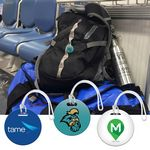 Custom Digital Mini Round Bag Tag 2x2