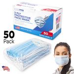 Custom 3-Ply Face Masks - Standard Breathable Melt-Blown Filter Disposable Face Masks - Level 3 ASTM