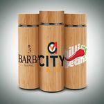 Custom 16oz. Vacuum-Sealed Eco Bamboo Bottle