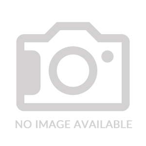 Black Leather & Satin Finish Rectangle Metal Keychain (Overseas Production)