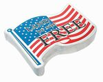 Custom Flag / American Flag shape compressed t-shirt.